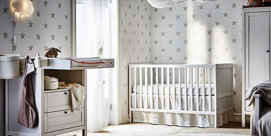Neutral Unisex Nursery with Ikea Registry Featured on Monday Morning Coffee - Actually Ashley