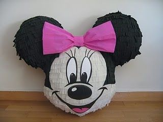 Pinata de Minnie Mouse - FIESTAIDEAS.com