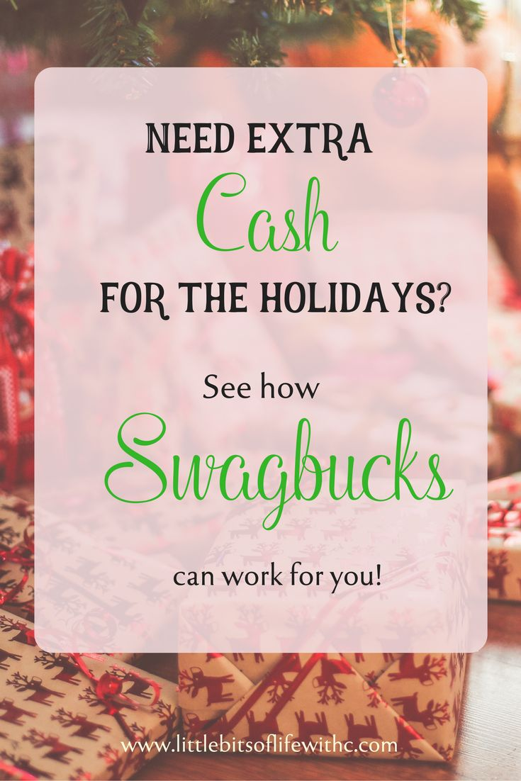 Need extra money for the upcoming holidays?? Check out how you can make extra income on the side with Swagbucks!