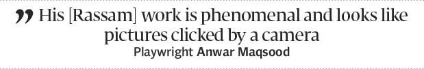 Ghalib on canvas: Shahid Rassam captures unheard melodies of the oppressed - The Express Tribune