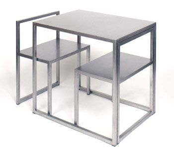 B'Lined Table with two integrated chairs by Anita Nevens.