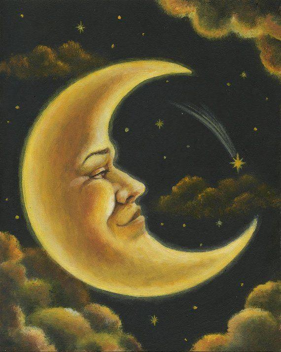 moon print crescent moon