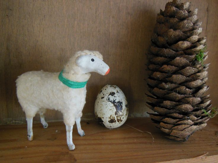 Sehr altes Wollschaf von Petite Maison auf DaWanda.com