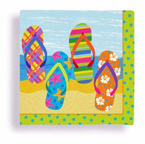 Beach Flip Flop Beverage Napkins | Theme Party Decorations & Supplies