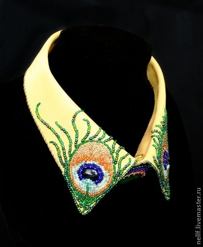 Handmade beaded collar