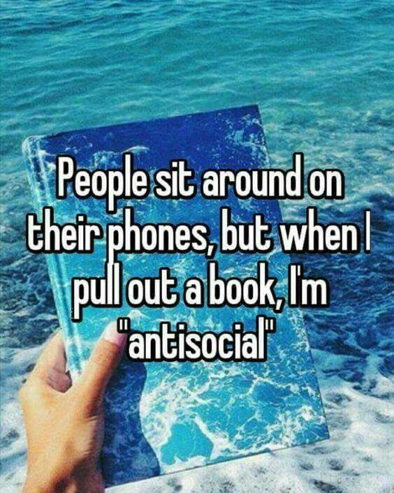 Oh sure, I'M the antisocial one! Riiiiiiiiight. LOL!