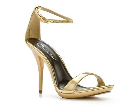 Black Strappy Sandals: Dsw Gold Heels