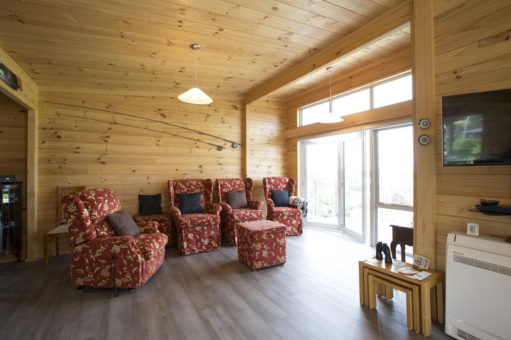 The home is a open plan living area with large windows to take in the beautiful Taupo views.