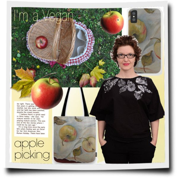 Yellow Apple. Vegan fashion design. A fashion look from October 2017 by canisartstudio featuring Vichy