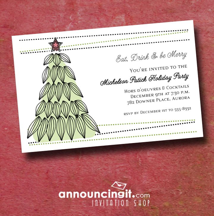 89 best Christmas and Holiday Invitations images on Pinterest ...