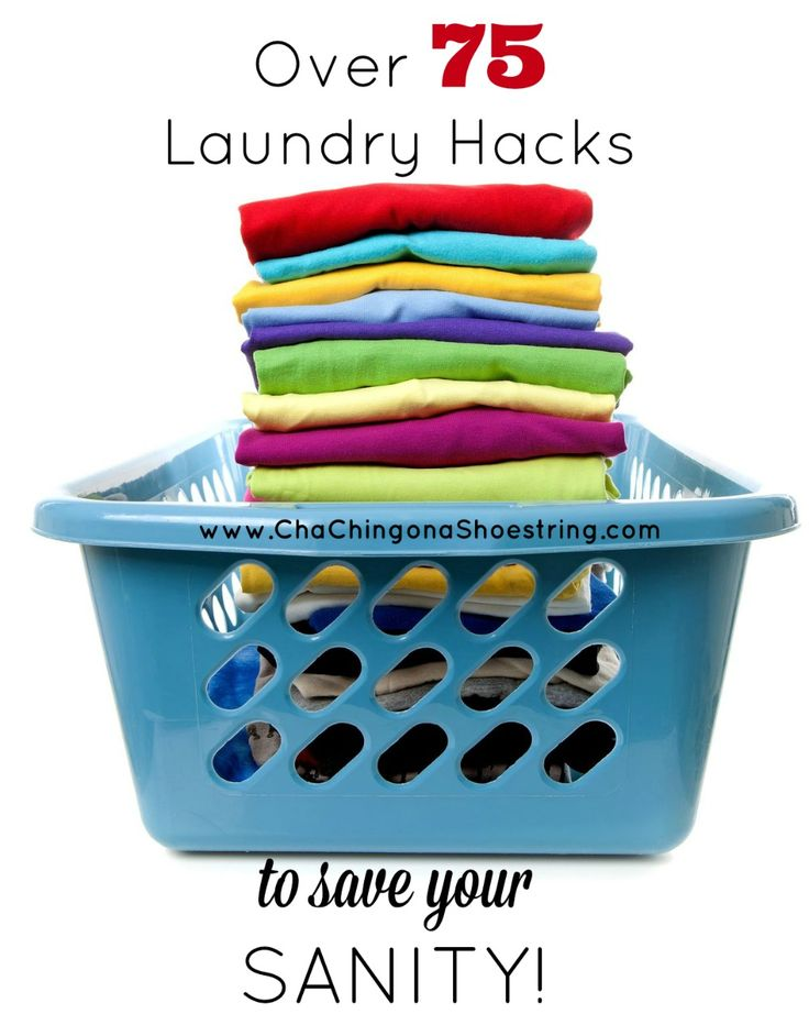 75 Laundry Hacks to Save Your Sanity - SO many helpful tips. This is a must-read if you want to simplify your laundry routine!
