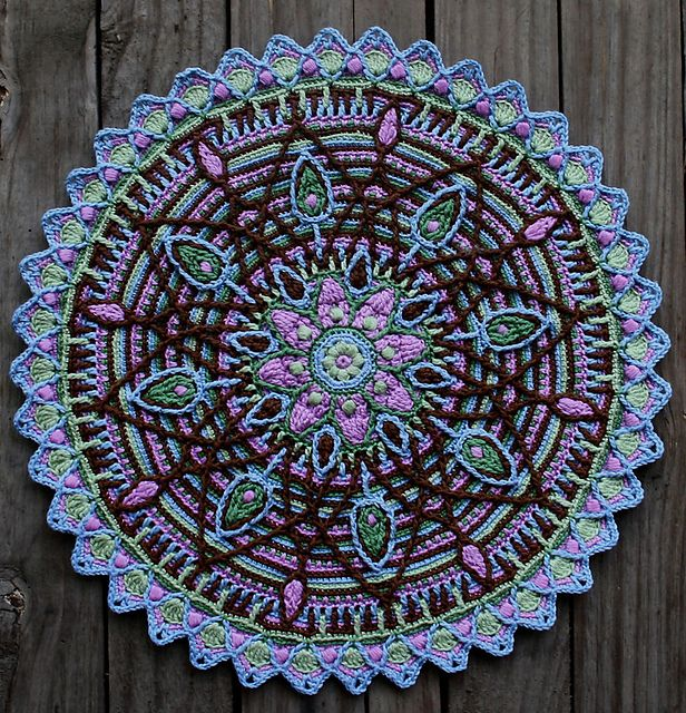 Crochet Free Pattern Mandala : Overlay Mandala No. 5 pattern by CAROcreated design ...