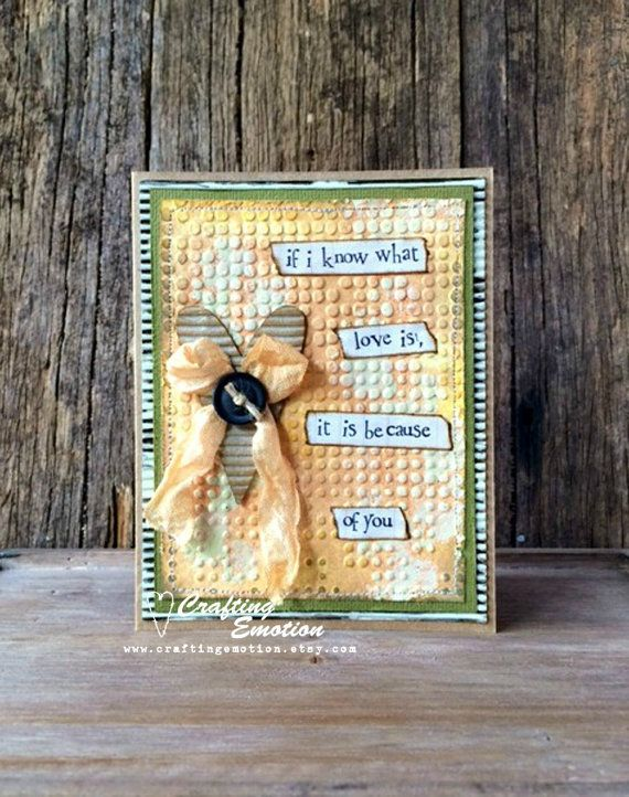 Handmade Mother's Day Card Unique Card OOAK by Crafting Emotion $12.00AUD Buy Now!