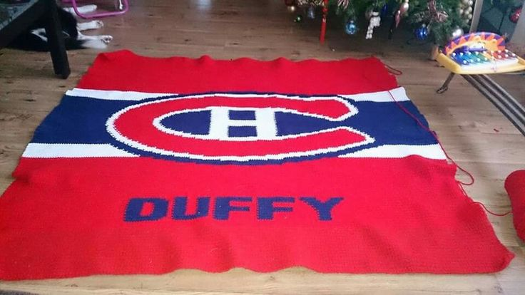 Personalized Montreal Canadiens team blanket  Full size