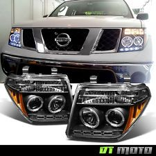 Black Fits 05-07 Frontier Pathfinder LED Halo Projector Headlights Lights Lamp (Fits: 2005 Nissan Pathfinder)