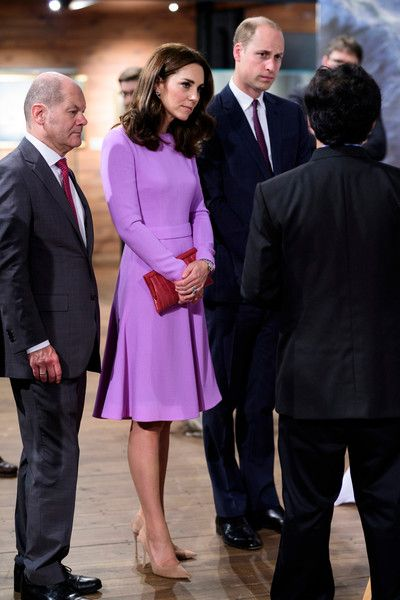 Kate Middleton Photos Photos - First Mayor of Hamburg Olaf Scholz (L) and Museum director Peter Tamm (R) give Prince William, Duke of Cambridge and Catherine, Duchess of Cambridge a tour of the Internationales Maritimes Museum Hamburg to celebrate the joint UK-German year of science, which for 2017 is focused on oceans, during day three of their official visit to Germany after two days in Poland on July 21, 2017 in Hamburg, Germany. - The Duke and Duchess of Cambridge Visit Germany - Day 3