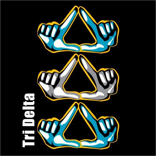 Tri Delta Sorority Symbol Design T Shirt All Designs Can Be