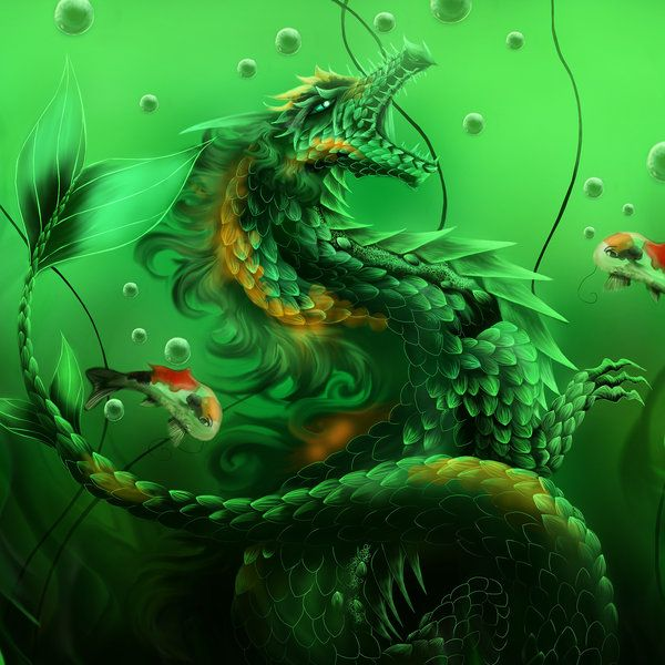 3 Koi Fish By Xrosewaterx Dragon Fantasy Myth Mythical