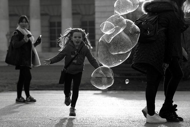Bubbles awaiting their fate .