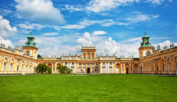 Royal Wilanow Palace in Poland
