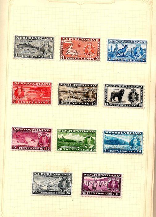 Britse Gemenebest-1937 kroning 2 complete sets van elk 202 stempels samen in album  1937 KRONING koning GEORGE VIth. TWEE volledige reeksen van alle 202 postzegels uitgegeven door het Britse Gemenebest ter herdenking van de gelegenheid. Beide sets in AlbumEen set is prima M/mint.Een set is prima gebruikt stempels gekozen voor cd's en kleurMet inbegrip van de NEWFOUNDLAND lange en herdenkingsmunt stelt elke M/mint en prima gebruiktHong Kong M/Mint en F/gebruiktAlle andere gebieden M/Mint en…