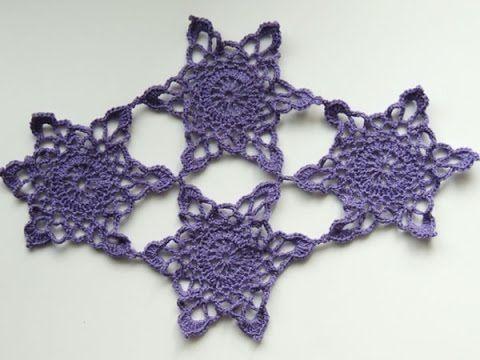 Crochet : Variación Encaje de Brujas - YouTube