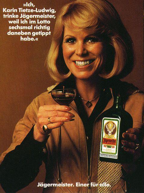 Jägermeister Werbung GGK (Düsseldorf, DE) Ab 1973 Ich trinke Jägermeister, weil (Karin Tietze-Ludwig) Anzeigen | von ideenstadt | Flickr