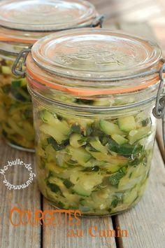 Courgettes (cuisinées) au Cumin en Conserve ...