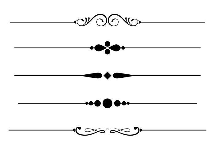Free Fancy Lines Vector Line Design Pattern Vector Art Design Decorative Lines