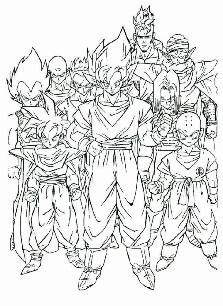 Cool manga Dragon ball Z coloring pages for kids, printable free ...   1001x728