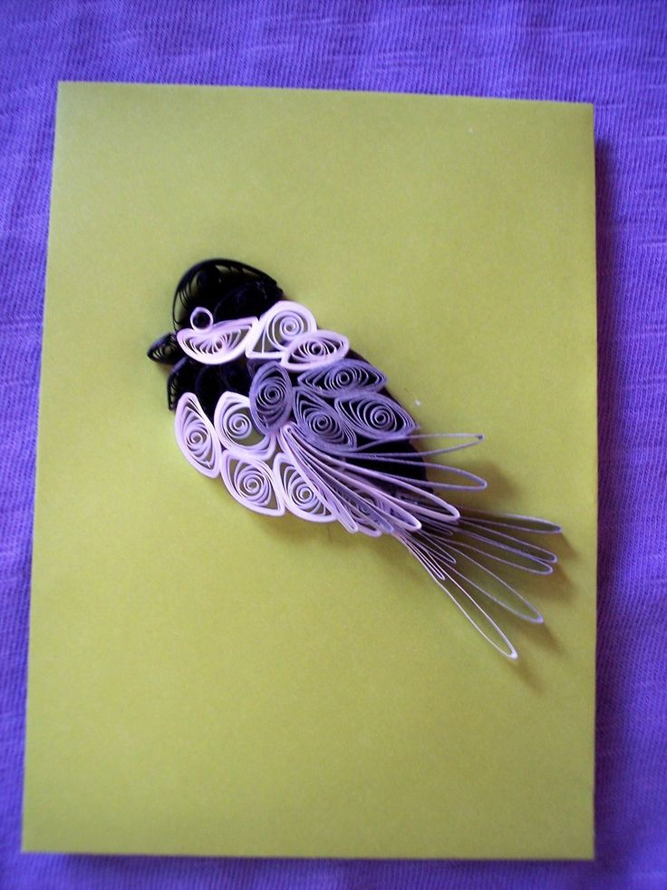 Quilled Chickadee for Scrapbooking/Cardmaking - pinned by pin4etsy.com