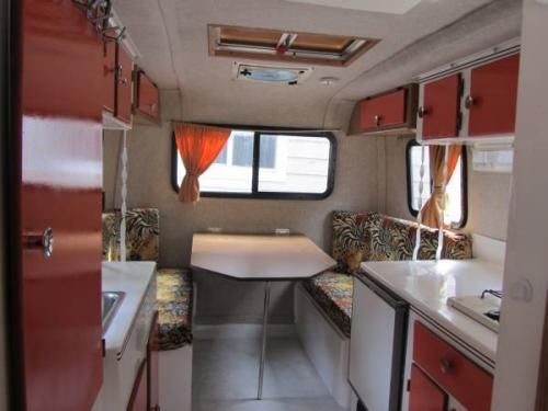 Airstream For Sale Bc >> 16 ft. Orange Scamp dinette. | Bolers, campers, caravans and trailers | Pinterest
