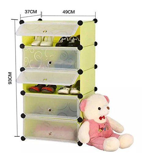 house of quirk diy shoe rack plastic shoe storage organizer cabinet green