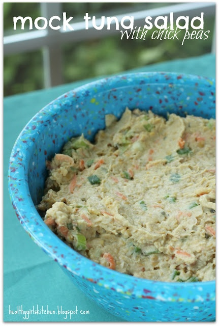 Mock tuna salad, made with chick peas, from a Plant-Based Nutritarian Weight Loss Recipe Blog