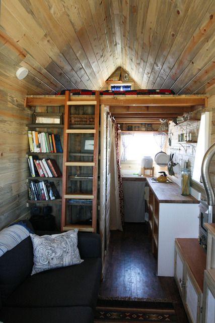Tiny house tourHouse Tours, Ideas, Tiny Homes, Tiny Cabin, Tinyhouse, Tiny Houses, House Interiors, Tiny Spaces, Small Spaces