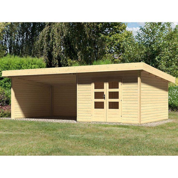 Holz-Gartenhaus Karlskoga 3 Natur Set mit Seiten- & Rückwand 705 cm x 305 cm Jetzt bestellen unter: https://moebel.ladendirekt.de/garten/gartenmoebel/gartenmoebel-set/?uid=57dee4ca-5408-5025-a69e-000fecbab270&utm_source=pinterest&utm_medium=pin&utm_campaign=boards #freizeit>gartenhäuser #garten #gartenmoebel #gartenmoebelset #zubehör>holzgartenhäuser Bild Quelle: obi.de