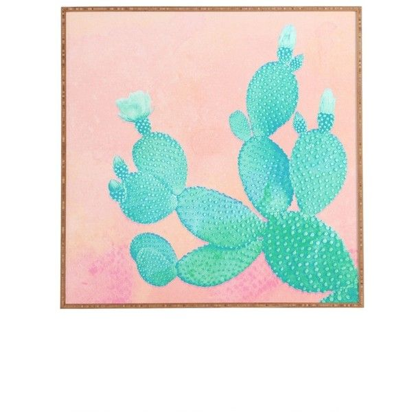 Deny Designs Pastel Cactus Framed Wall Art (¥16,660) ❤ liked on Polyvore featuring home, home decor, wall art, filler, pink, pink home decor, pastel wall art, rustic wall art, pastel home decor and deny designs