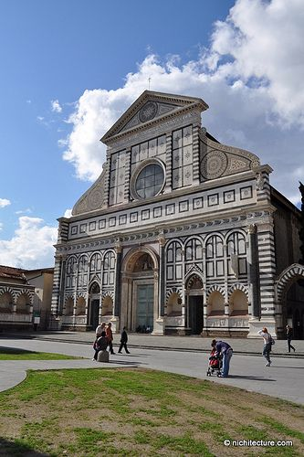 #19 - proportion  Alberti states it is only natural for us to borrow rules of proportion from music-the octave, the fifth, and the fourth. Alberti most certainly borrowed rule of symmetry and proportion in his buildings.   santa maria novella - Alberti