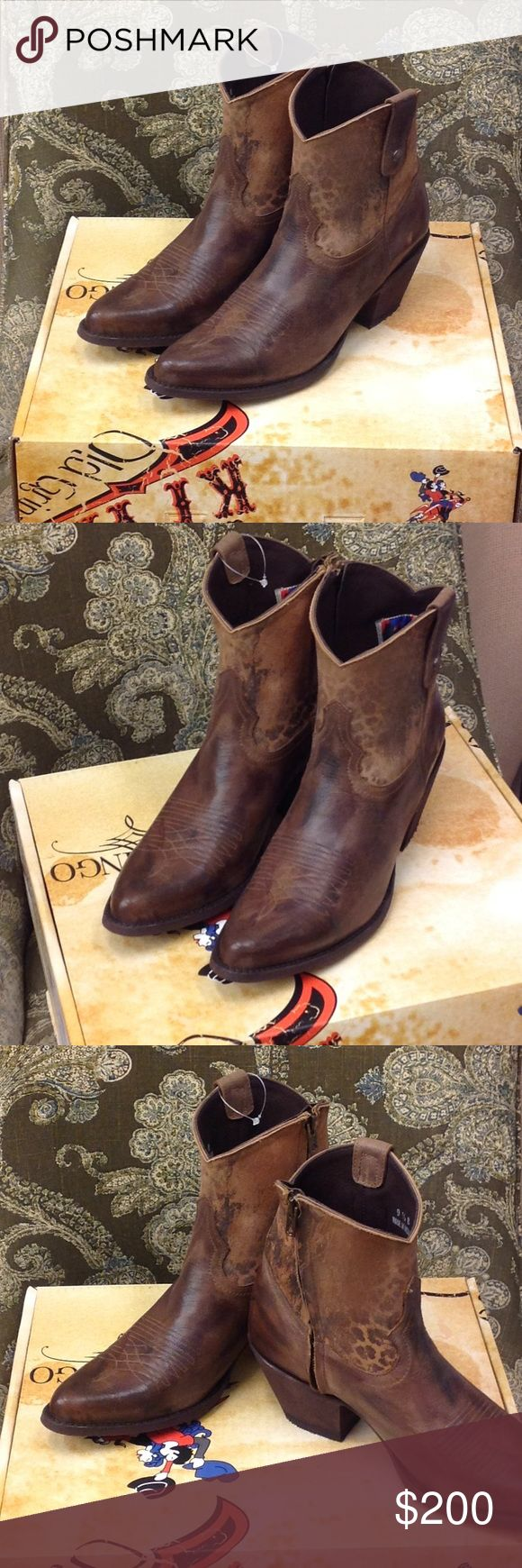Old Gringo Yippee Ki Yay brand Booties Super cute Old Gringo Yippee Ki Yay booties. These are new never worn in the box. They are a shorter Ankle boot with a zipper on the inside for easy on off. The hint of cheetah print on the shaft is the perfect touch to spice up any wardrobe. Old Gringo Shoes Ankle Boots & Booties