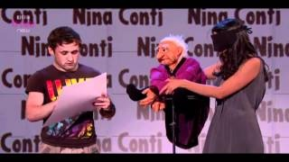 Nina Conti Russel Howards Good News, via YouTube.: Funny Standup, Conti Russell, Laughter Funniest, Guys Places, Nina Conti, Music Videos, Human Puppets, Favorite Videos, Russell Howard