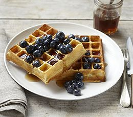 ... Waffles ~ the recipe sounds good, with lemon zest and greek yogurt