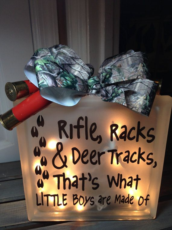 Hey, I found this really awesome Etsy listing at https://www.etsy.com/listing/239427873/camo-baby-night-light-glass-blocks