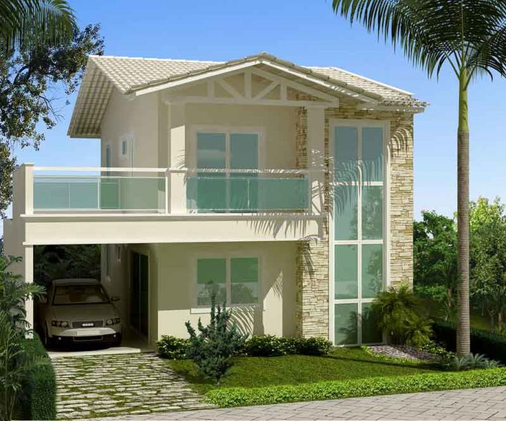 25 melhores ideias sobre fachadas de casas bonitas no for Fachadas de apartamentos modernas