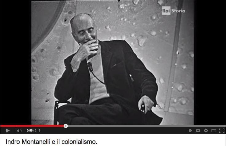 Montanelli e l'Africa - Nel 1935 andò volontario nell'impresa fascista in Etiopia. In una trasmissione tv nel 1969 una spettatrice lo attacca.