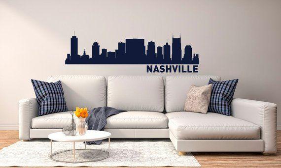 Nashville Skyline Wall Decal City Silhouette Vinyl Sticker