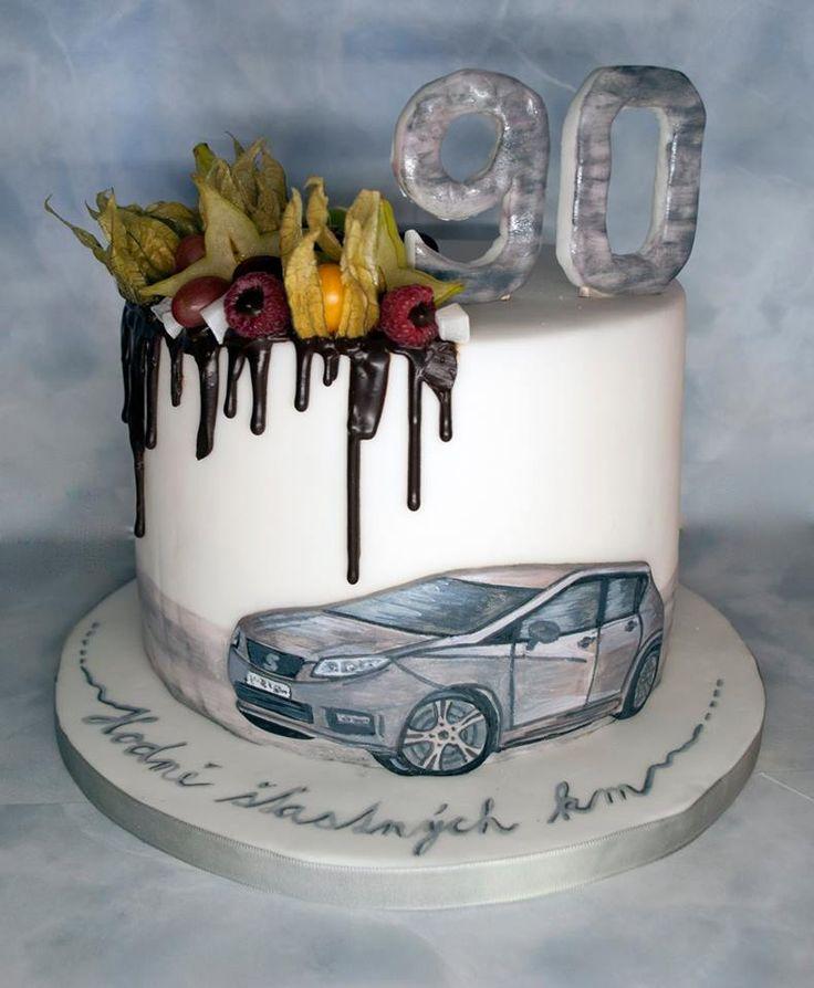 Dort k 90. narozeninám pro pána se seatkem. Seat Car Cake.