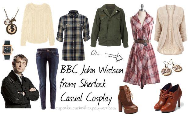BBC John Watson from Sherlock Casual Cosplay - So yeah, we should do something like this. ;) @Style Space & Stuff Blog Jade