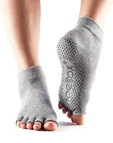 ToeSox Womens Grip Half Toe Ankle Socks XLarge Heather Grey >>> Want to know more, click on the image.