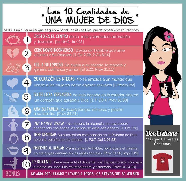 Las 10 cualidades de la mujer de Dios