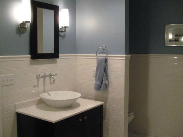 Badezimmer Ideen Wandfarbe